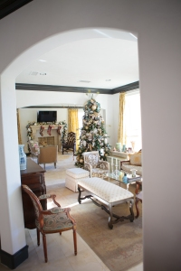 Christmas Platinum Decorations, Christmas Living Room. Show Me Decorating,Christmas Decorating Ideas