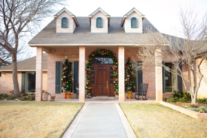 Lit christmas trees, Christmas entrance, How to decorate for Christmas, Show Me Decorating