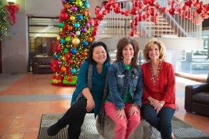 The Christmas Decorating Experts, of Show Me Decorating, Security Bank Atrium