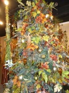 Pastel Peacock Christmas tree theme