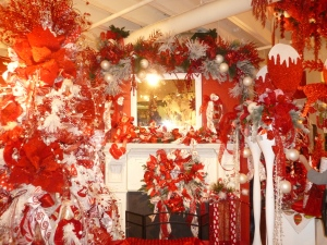 Peppermint Red and White Christmas Tree theme