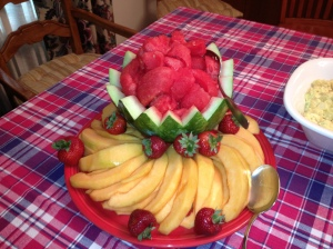 """Watermelon Bowl"" and cantaloupe are a refreshing summer time treat!"