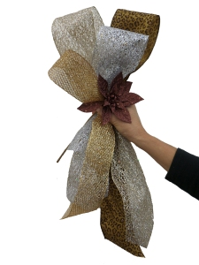 Precious Metals Mix Christmas Tree Theme, half Bow