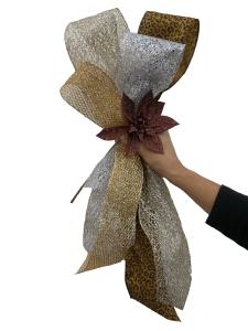 Precious Metals Mix Christmas Tree Theme, half Bow