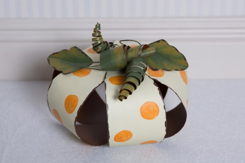Metal Polka Dot Pumpkin, medium