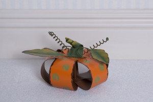 Metal Polka Dot Pumpkin, small