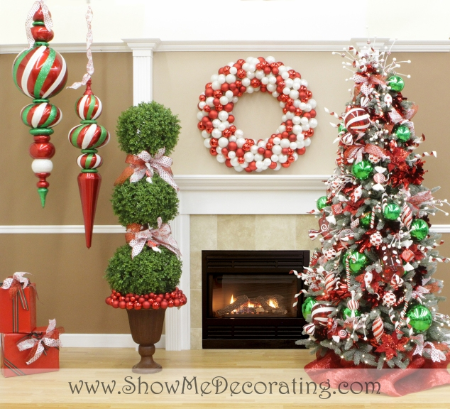 Peppermint Twist Christmas tree Theme