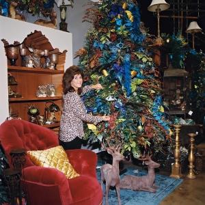 Miss Cayce's Christmas Store, Peacock Splendor Christmas Theme Tree