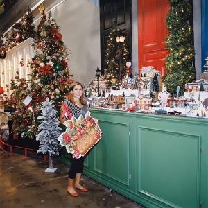 Miss Cayce's Christmas Store 2013 tour, Katy shows off the Dept 56 Snow Village