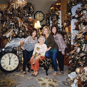 Miss Cayce's Christmas Store tour, it is a family affair!Jennifer, (mom) Betty, Kathy and Becky