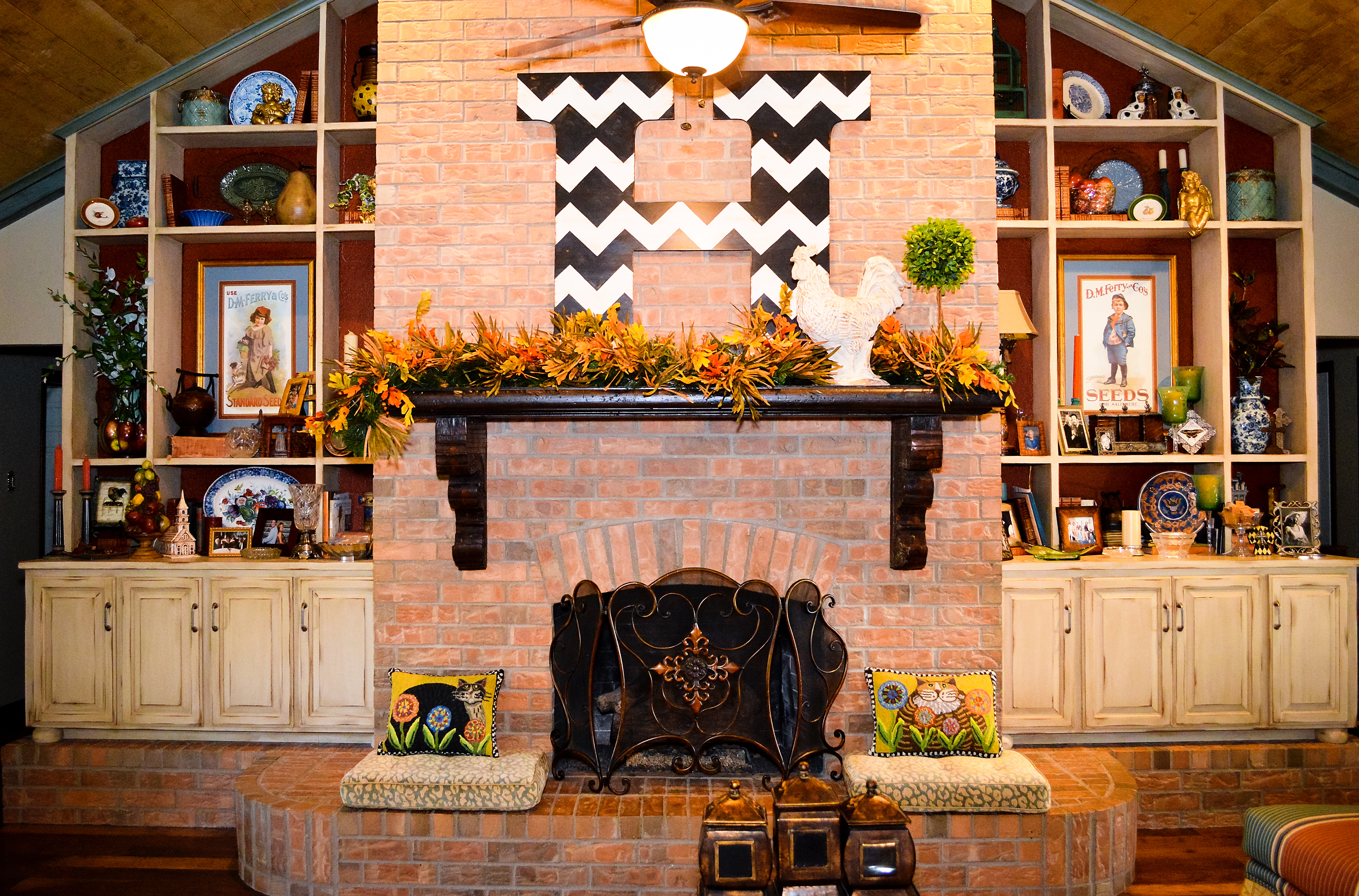 fall fireplace decor my web value