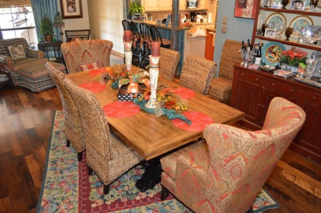 """Finished Fall table! So """"Show Me"""" simple and easy"""