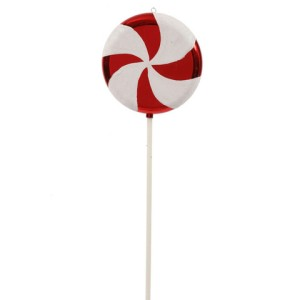 Large Red, White Swirl Lollipop