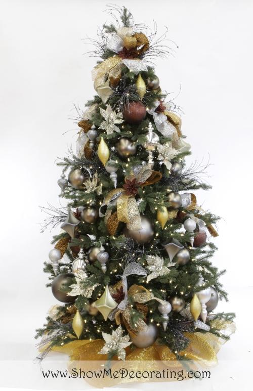 Show Me Decorating Precious Metal Mix Christmas Tree Theme