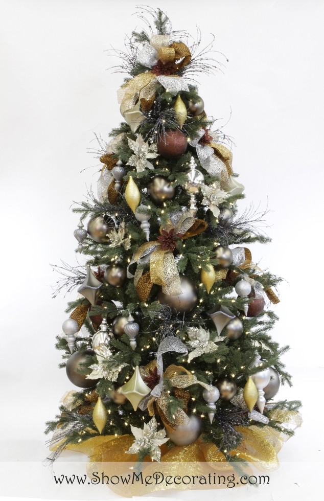 Show Me Decorating Precious Metal Mix Christmas Tree Theme