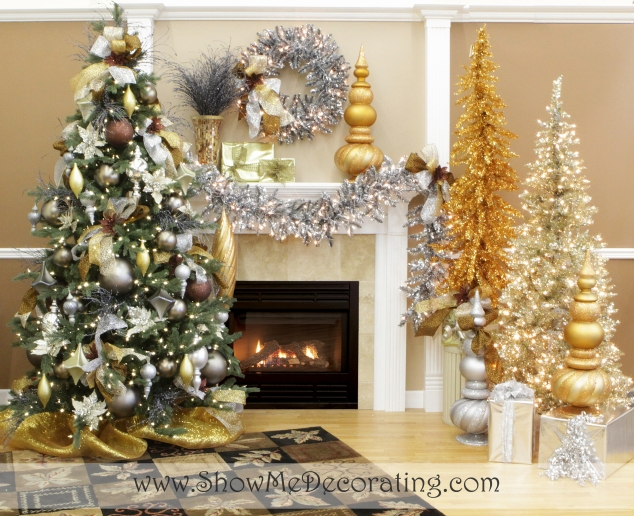 Precious Metal Mix Christmas Tree Theme