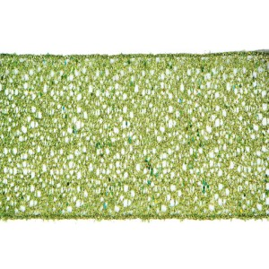 Lime green glitter mesh is a versatile wired ribbon.