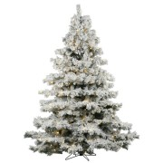 7.5' Flocked Alaskan Christmas Tree