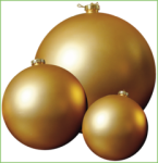Matte Gold ball Kit, christmas balls, christmas decorations, shatterproof balls