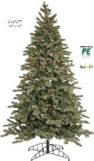 "8.5' x 56"" Blue Balsam Fir Tree, 3555 Tips (Pvc/847, Pe/2708)  UL Listed 1000 Clear Dura-Lit Lites, Metal Stand,"