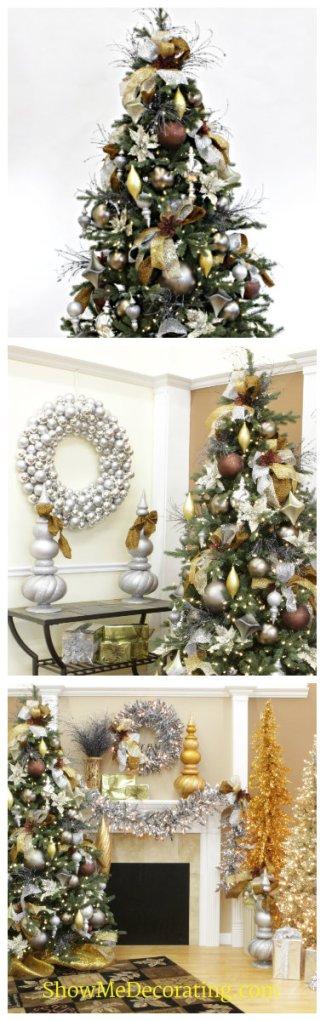 Metallic Christmas Decorating theme, Christmas Gold, Christmas Platinum, Christmas Silver