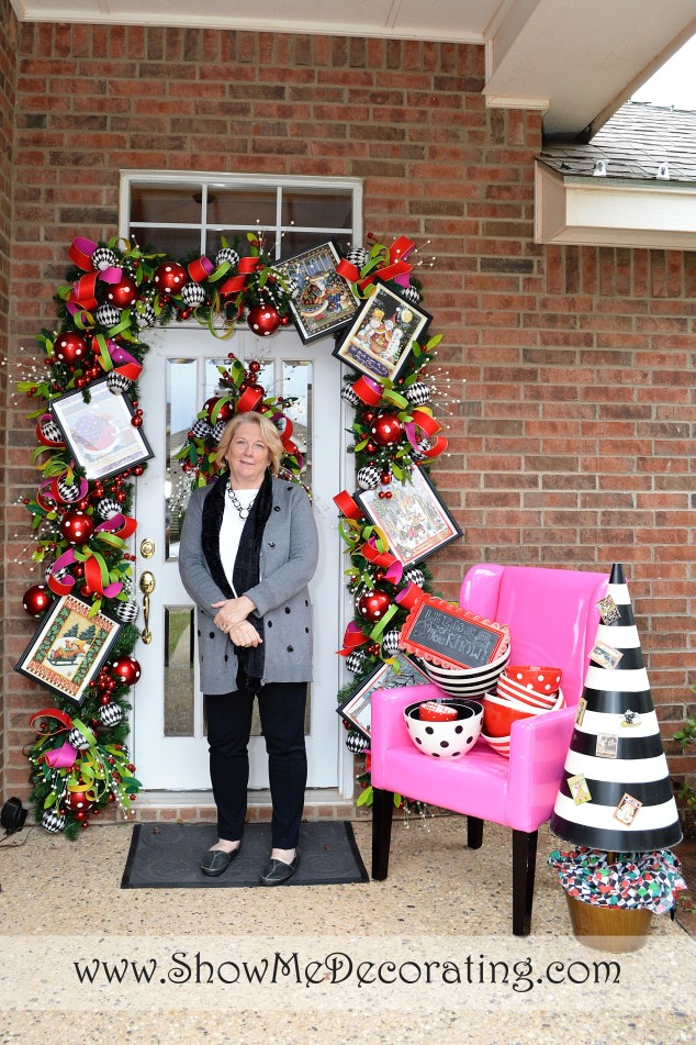 """Mary Engelbreit arrives at Alta's """"Mary E"""" inspired doorway!"""