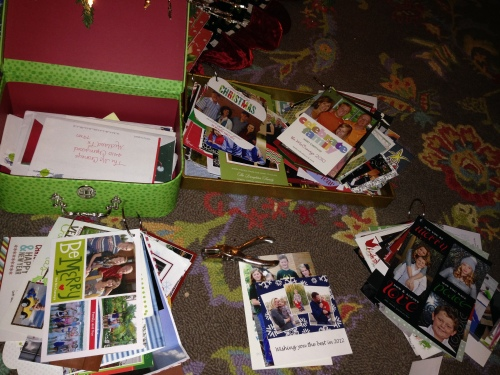 Step 5: Keep each years cards together and attach onto a separate ring.