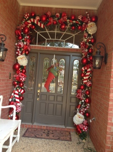 Christmas Doorway, Show Me Decorating Door Decor
