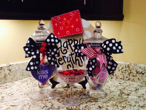 Valentine Jars, Coton Colors, NECO Conversation Hearts, Nestle Crunch Hearts