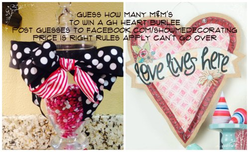 Valentine, Giveaway, M&M's, Glory Haus