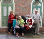 Kathy, Becky, Betty (mom) and Clarence (dad) at the NEW Miss Cayce's Christmas Store