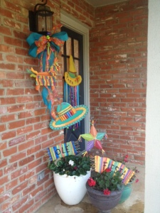 Piñata, Fiesta Decorations, Cinco de Mayo, Doorway Decor, DIY