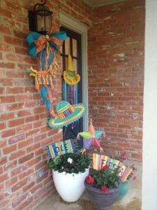 Piñata, Fiesta Decorations, Cinco de Mayo, Doorway Decor, DIY