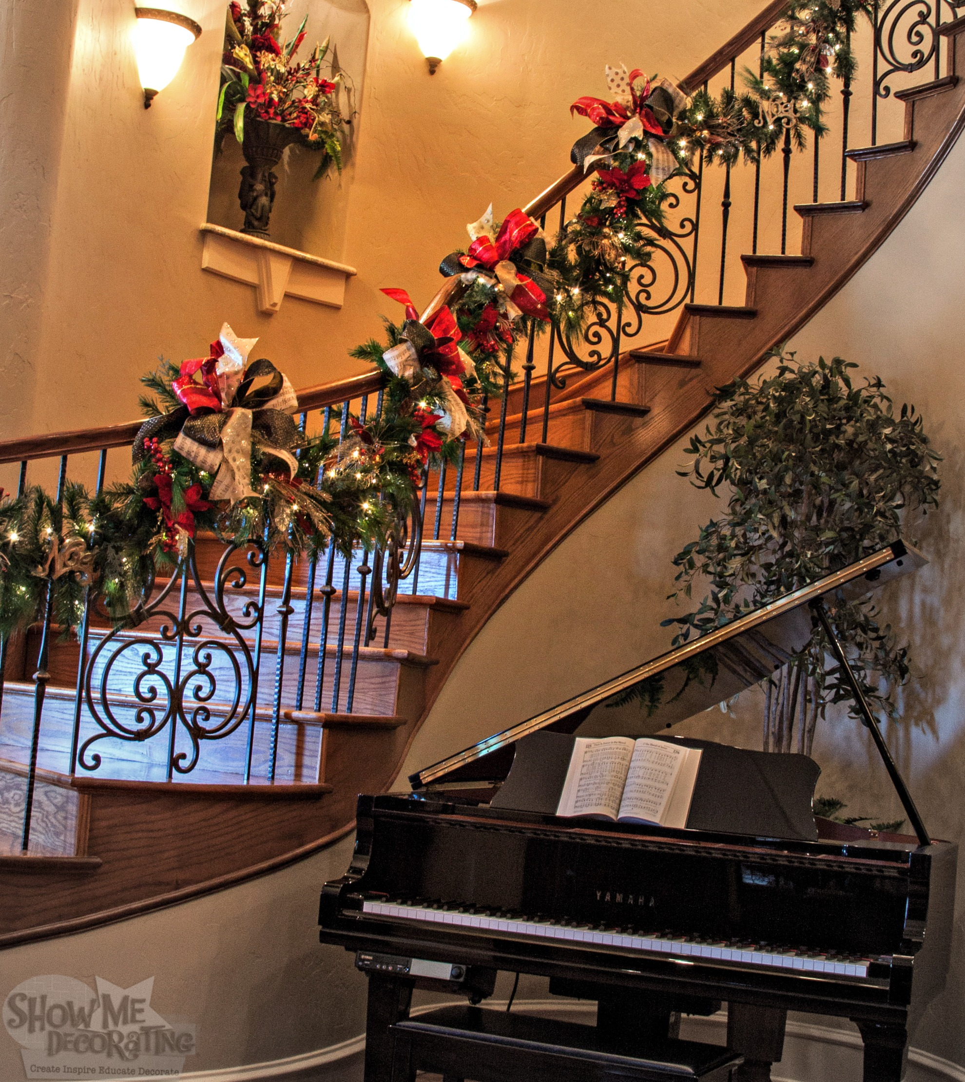 Decorate The Stairs For Christmas: Create. Inspire. Educate. Decorate