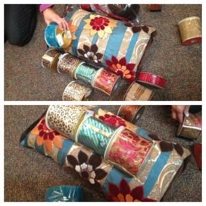 christmas ribbon, tie a bow, christmas tree theme